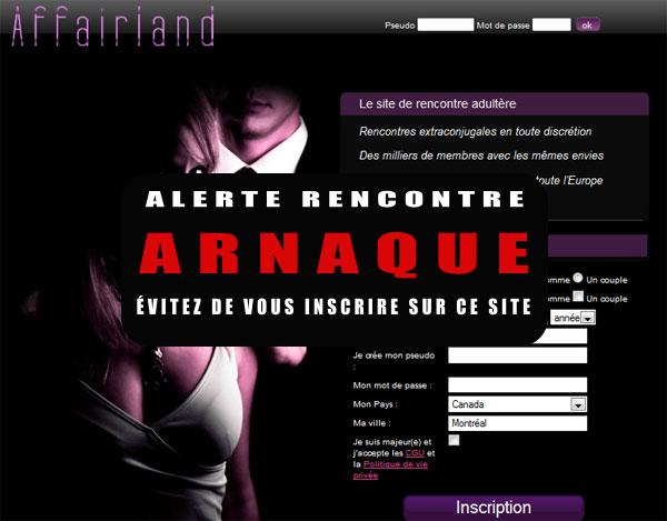 Tarif, Plaintes, Arnaques sur Affairland